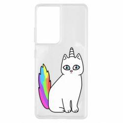 Чехол для Samsung S21 Ultra Cat Unicorn