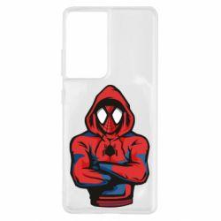 Чохол для Samsung S21 Ultra Людина павук в толстовці