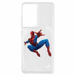 Чохол для Samsung S21 Ultra Людина павук