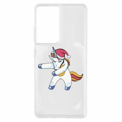 Чохол для Samsung S21 Ultra Christmas Unicorn