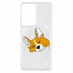 Чохол для Samsung S21 Ultra Corgi is dozing