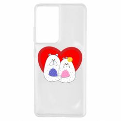 Чохол для Samsung S21 Ultra Couple Bears