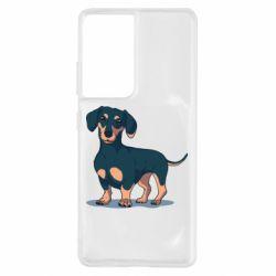 Чохол для Samsung S21 Ultra Cute dachshund