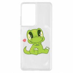 Чохол для Samsung S21 Ultra Cute dinosaur