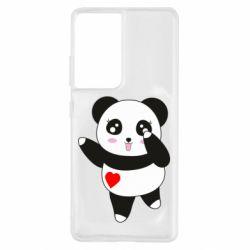 Чохол для Samsung S21 Ultra Cute little panda