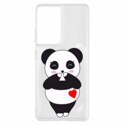 Чохол для Samsung S21 Ultra Cute panda