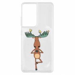 Чохол для Samsung S21 Ultra Deer and Yoga