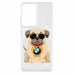 Чохол для Samsung S21 Ultra Dog with a collar BMW