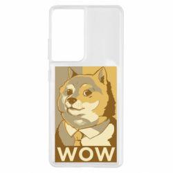 Чохол для Samsung S21 Ultra Doge wow meme