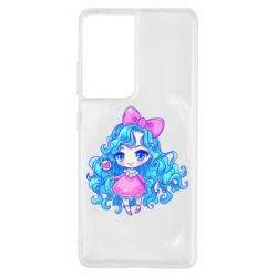 Чохол для Samsung S21 Ultra Doll with blue hair