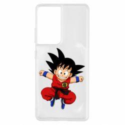 Чохол для Samsung S21 Ultra Dragon ball Son Goku