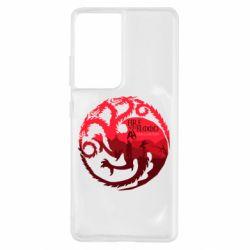 Чехол для Samsung S21 Ultra Fire and Blood