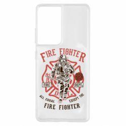 Чохол для Samsung S21 Ultra Fire Fighter