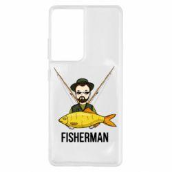 Чохол для Samsung S21 Ultra Fisherman and fish