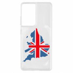 Чехол для Samsung S21 Ultra Флаг Англии