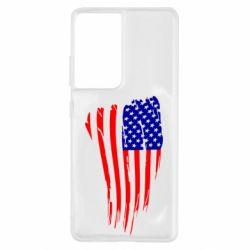 Чохол для Samsung S21 Ultra Прапор США