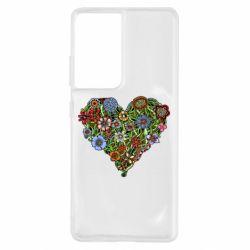 Чохол для Samsung S21 Ultra Flower heart