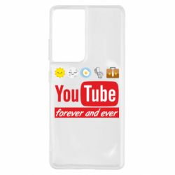 Чохол для Samsung S21 Ultra Forever and ever emoji's life youtube