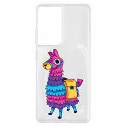 Чохол для Samsung S21 Ultra Fortnite colored llama