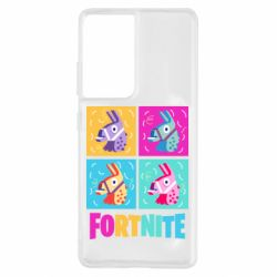 Чехол для Samsung S21 Ultra Fortnite Llamas