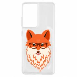 Чехол для Samsung S21 Ultra Fox with a mole in the form of a heart