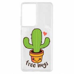 Чохол для Samsung S21 Ultra Free Hugs Cactus