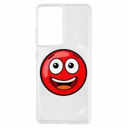 Чохол для Samsung S21 Ultra Funny Red Ball