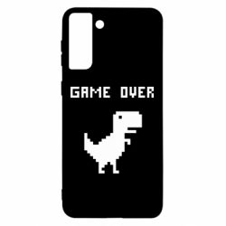 Чехол для Samsung S21 Ultra Game over dino from browser