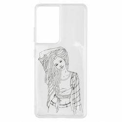 Чехол для Samsung S21 Ultra Girl with dreadlocks