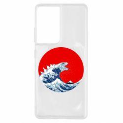 Чохол для Samsung S21 Ultra Godzilla Wave