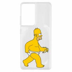 Чохол для Samsung S21 Ultra Гомер Сімпсон в трусиках