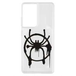 Чохол для Samsung S21 Ultra Graffiti Spider Man Logo