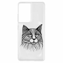 Чохол для Samsung S21 Ultra Graphic cat