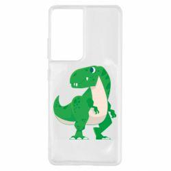 Чохол для Samsung S21 Ultra Green little dinosaur