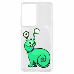 Чехол для Samsung S21 Ultra Green monster snail