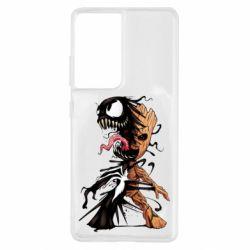 Чохол для Samsung S21 Ultra Groot and Venom