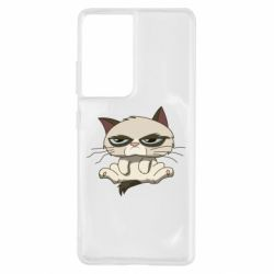 Чохол для Samsung S21 Ultra Grumpy Cat Art nope
