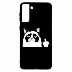 Чохол для Samsung S21 Ultra Grumpy cat F**k Off