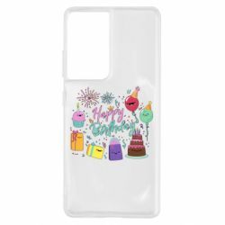 Чохол для Samsung S21 Ultra Happy Birthday