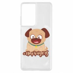 Чехол для Samsung S21 Ultra Happy pug