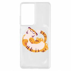 Чохол для Samsung S21 Ultra Happy tiger