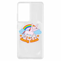Чехол для Samsung S21 Ultra Heavy metal unicorn