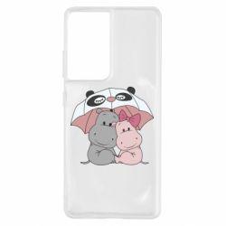 Чохол для Samsung S21 Ultra Hippos