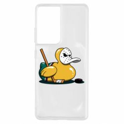 Чохол для Samsung S21 Ultra Hockey duck