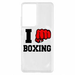 Чохол для Samsung S21 Ultra I love boxing