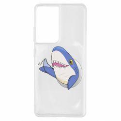 Чехол для Samsung S21 Ultra Ikea Shark Blahaj