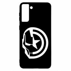 Чохол для Samsung S21 Ultra Iron Man and Captain America