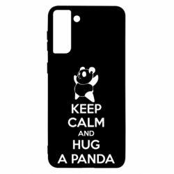 Чохол для Samsung S21 Ultra KEEP CALM and HUG A PANDA