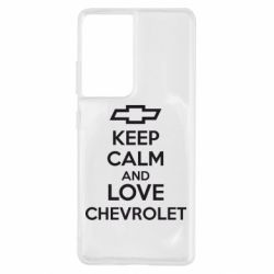 Чохол для Samsung S21 Ultra KEEP CALM AND LOVE CHEVROLET