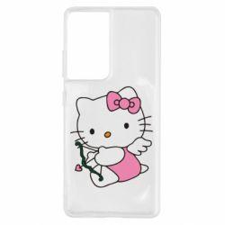 Чехол для Samsung S21 Ultra Kitty амурчик